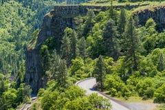 Rowena Crest Historical Columbia River-Weg stock afbeelding