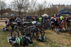 rowerów biegacze Toledo Obrazy Royalty Free