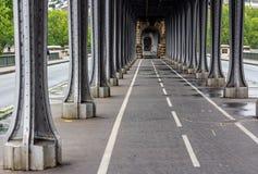 Rower ścieżka Paryż, Francja Obraz Royalty Free