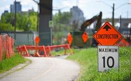 Rower ścieżka w budowie Zdjęcie Royalty Free