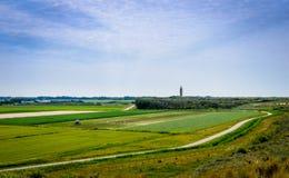 Rower ścieżka w Zeeland Zdjęcia Royalty Free