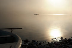 Rower μια ομιχλώδη ημέρα Στοκ εικόνες με δικαίωμα ελεύθερης χρήσης