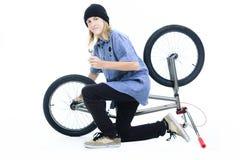 Rower chłopiec Zdjęcie Royalty Free
