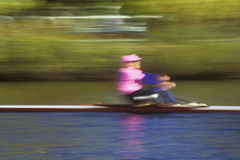 Rower on Charles River, Cambridge, Massachusetts Royalty Free Stock Images