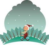 rower Claus Santa Obrazy Stock