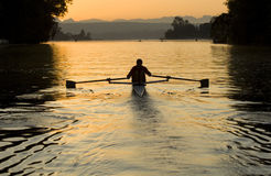 Rower de la salida del sol Imagen de archivo