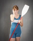 Rower desperation. People emotions and expressions portrait Royalty Free Stock Photos