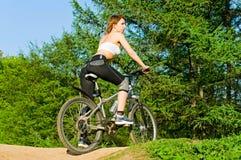 rower dziewczyna zdjęcie stock