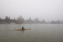 Rower en invierno Fotografía de archivo libre de regalías