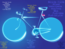 Rower ilustraci maski Abstrakcjonistyczny Wektorowy bicykl Zdjęcie Stock