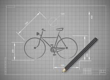 Rower ilustraci maski Abstrakcjonistyczny Wektorowy bicykl Zdjęcia Royalty Free