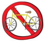 Rower jedzie pozwolić znaka Zdjęcia Stock