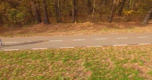 Rower jesień i ścieżka zbiory wideo