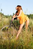 rower kobieta fotografia royalty free
