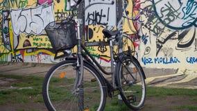 Rower na Berlińskiej ścianie Zdjęcia Stock