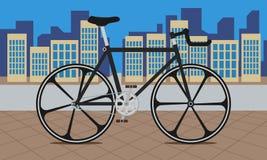 Rower na mieście Zdjęcie Royalty Free