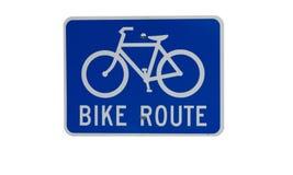 rower odizolowywał trasa znaka Zdjęcia Stock