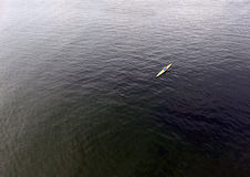 Rower at open water Stock Photos
