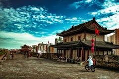 Rower przejażdżka na miasto ścianie, XI. ` fotografia stock