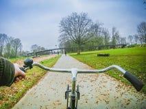 Rower przejażdżka w Amsterdam parku zdjęcie royalty free