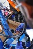 Rower remontowa usługa koło Zdjęcia Stock