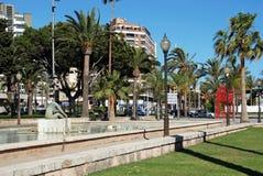 Rower statue, Almeria. Royalty Free Stock Photos