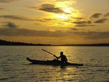 Rower sunset Stock Photo