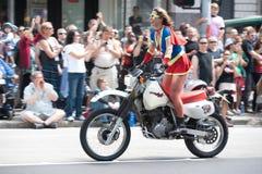 rower tam homoseksualnej parady duma Seattle Zdjęcie Stock