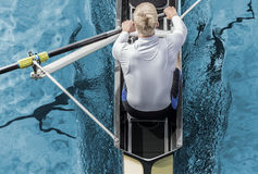 Rower top view Stock Photos
