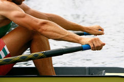 Rower in training Royalty Free Stock Photo