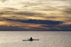 Rower in training session Royalty Free Stock Photo