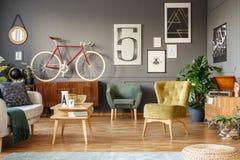 Rower w żywym pokoju zdjęcie royalty free