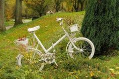 Rower z flowerpots Obrazy Stock
