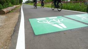 Rowerowa autostrada cykl trasa Darmstadt, Frankfurt, -, Niemcy zbiory wideo