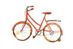 rowerowa czerwień Zdjęcia Stock