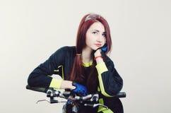 rowerowa dziewczyna Zdjęcie Stock