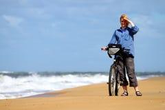 rowerowa dziewczyna Fotografia Stock