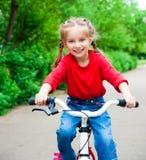 rowerowa dziewczyna Zdjęcia Royalty Free