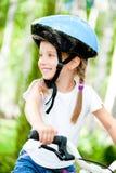 rowerowa dziewczyna Zdjęcie Royalty Free