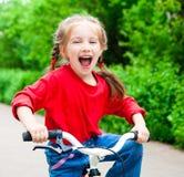 rowerowa dziewczyna Obraz Royalty Free
