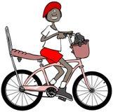 rowerowa dziewczyna jej jeździeccy potomstwa Obraz Royalty Free