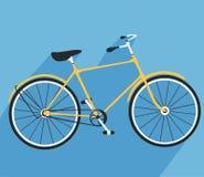 Rowerowa ikona Szczegółowa Rowerowa ikony bryła i płaski koloru projekt royalty ilustracja