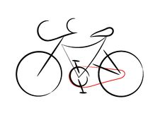 rowerowa ilustracja Zdjęcie Royalty Free