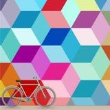 Rowerowa pobliska kolorowa ściana ilustracji