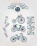 Rowerowe rzeczy ilustracji