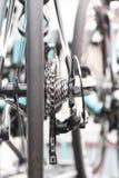 rowerowe zbliżenia chainrings biegów ustawienia Obrazy Stock
