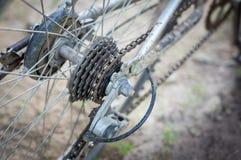 rowerowe zbliżenia chainrings biegów ustawienia Zdjęcia Royalty Free