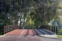 Rowerowego pasa ruchu most Zdjęcia Stock