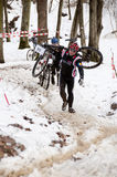 rowerowej rasy zima Fotografia Royalty Free