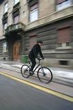 rowerowi biznesowego mężczyzna potomstwa Zdjęcia Stock